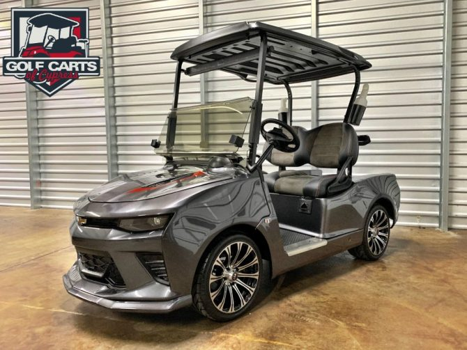 Custom golf car. Chevrolet Camaro golf cart